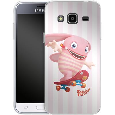 Samsung Galaxy J3 (2016) Silikon Handyhuelle - Sorgenfresser Pomm von Sorgenfresser