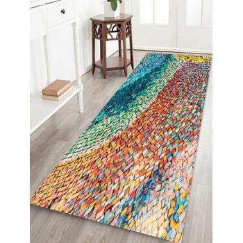 Colored Gradient Stone Pattern Floor Mat