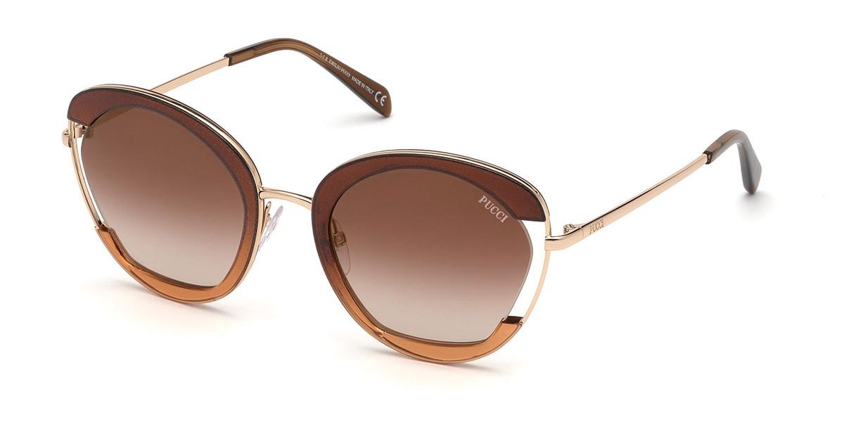 Emilio Pucci EP0099 50G Women's Sunglasses Brown Size 54