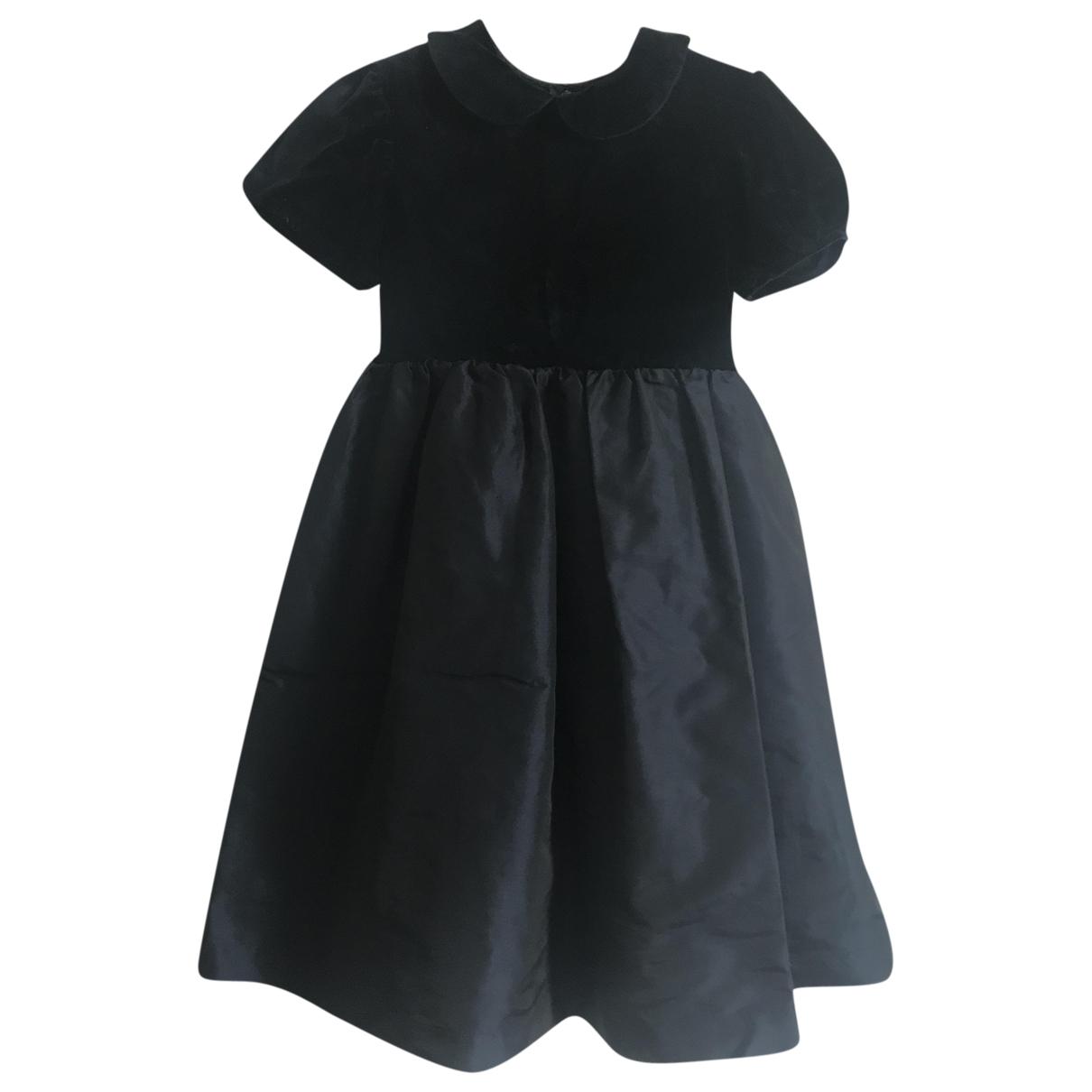 Non Signé / Unsigned \N Navy Velvet dress for Kids 6 years - up to 114cm FR