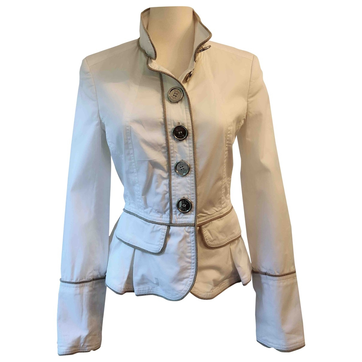 Burberry \N White Cotton jacket for Women 6 UK