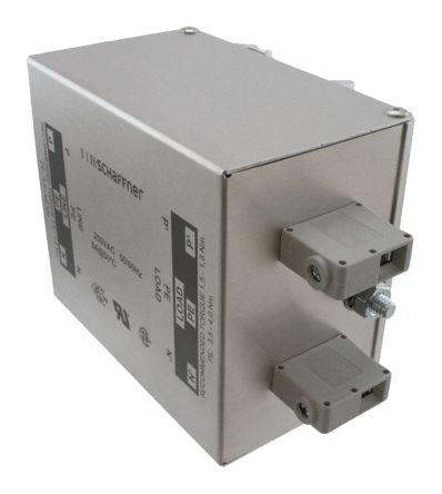 Schaffner , FN2410H 32A 520 V ac 400Hz, DIN Rail RFI Filter, Screw 2 Phase