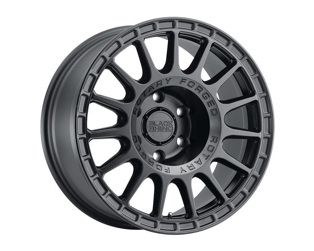 Black Rhino Sandstorm Wheel 15x7  5x100 15mm Semi Gloss Black w/Machined Dark Tint Ring