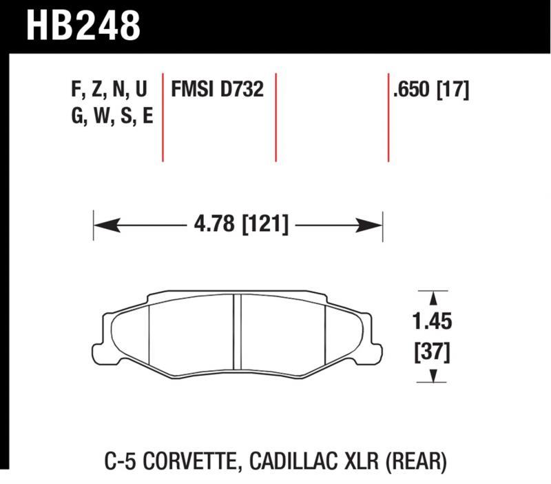 Hawk Performance HB248B.650 Disc Brake Pad Rear