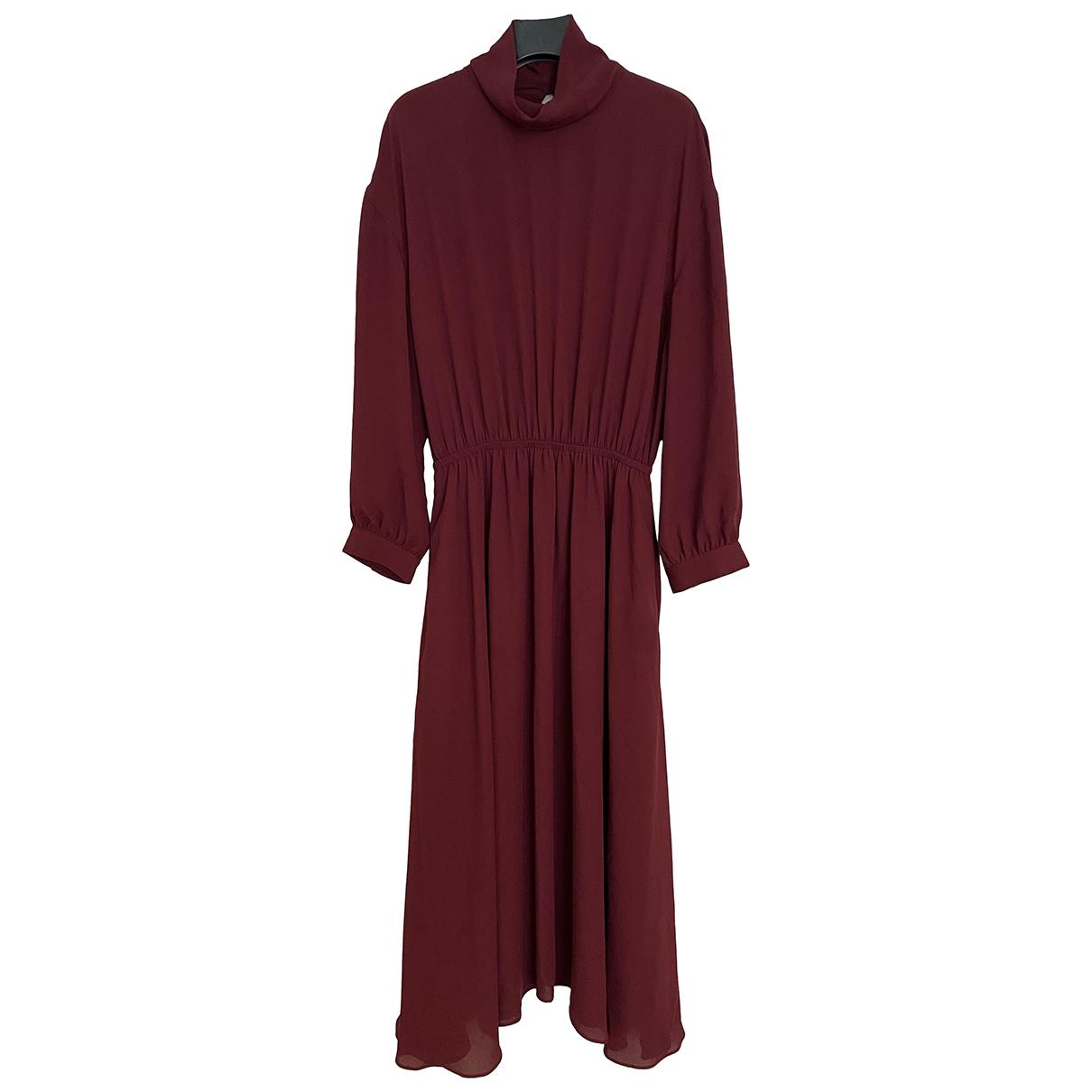 Babaton \N Kleid in  Bordeauxrot Polyester