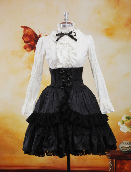 Milanoo Gothic Multi Color Jacquard Sweet Lolita Outfits