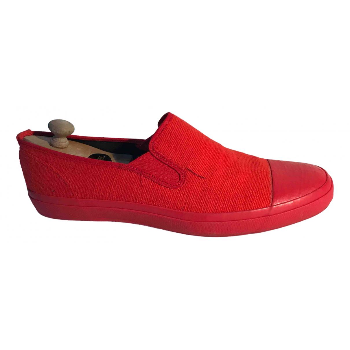 Yohji Yamamoto \N Sneakers in  Rot Leinen
