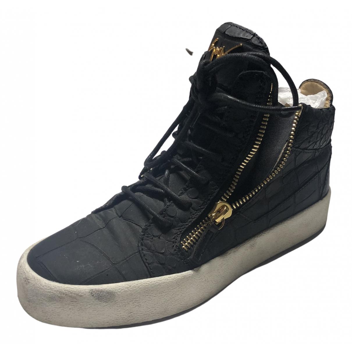 Giuseppe Zanotti \N Sneakers in  Schwarz Exotenleder
