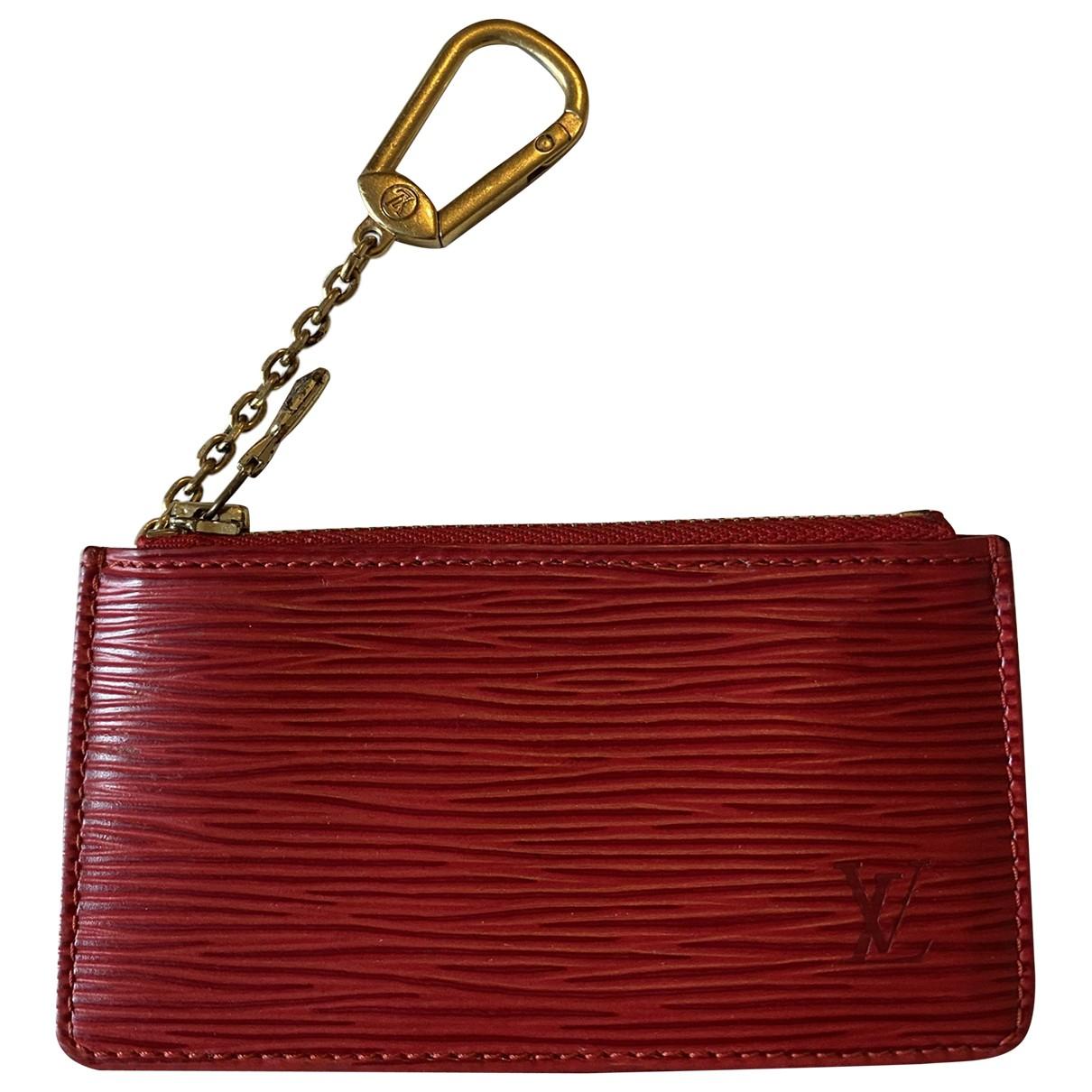 Louis Vuitton - Portefeuille   pour femme en cuir - rouge