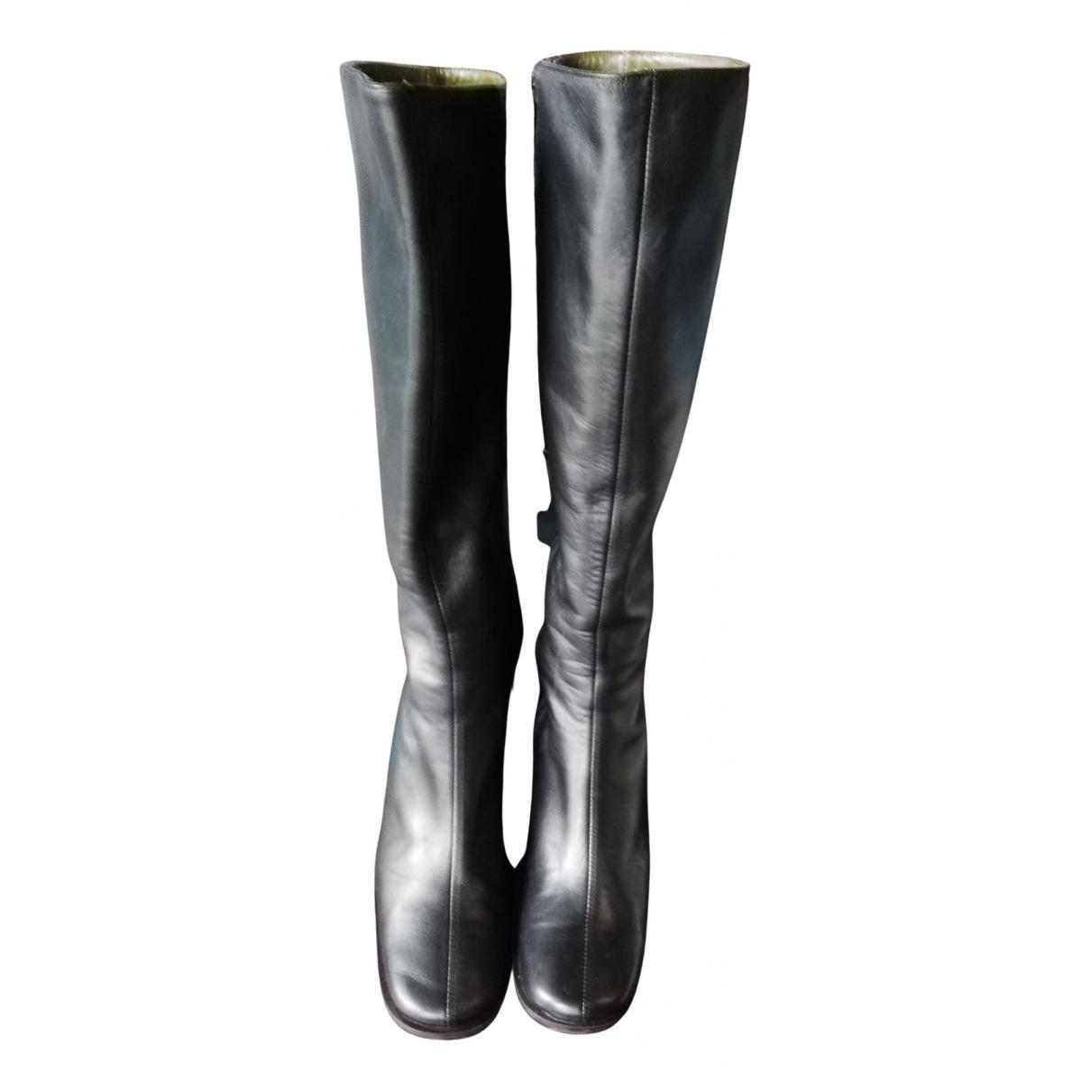 Kenzo - Bottes   pour femme en cuir - noir
