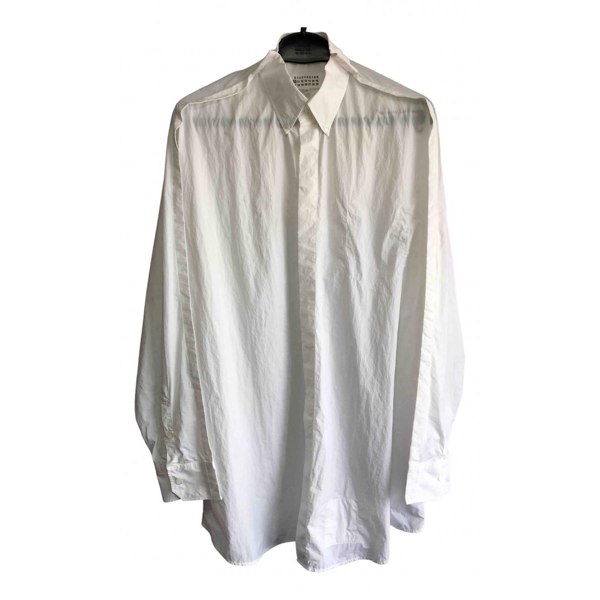 Maison Martin Margiela \N White Shirts for Men 38 EU (tour de cou / collar)