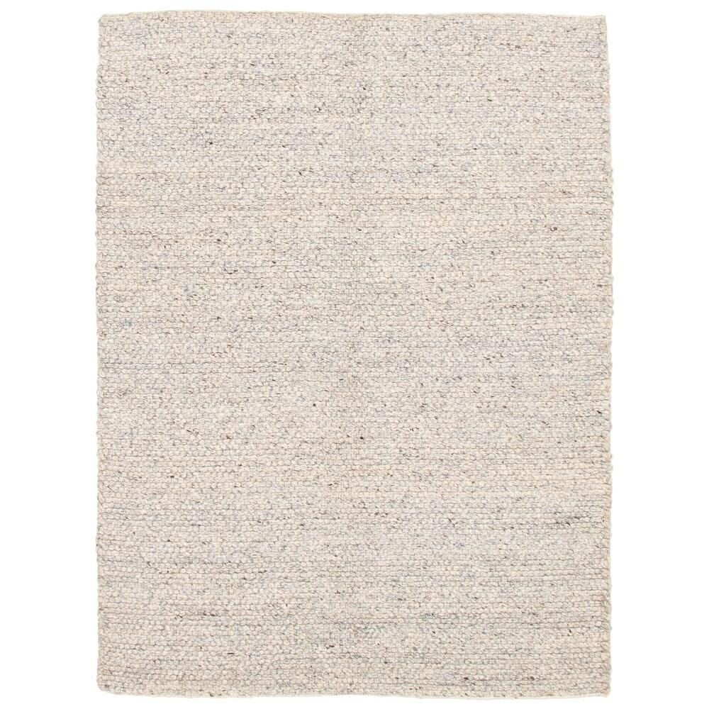 ECARPETGALLERY  Braid weave Sienna Blue  Wool Rug - 5'5 x 7'3 (Light Blue - 5'5 x 7'3)