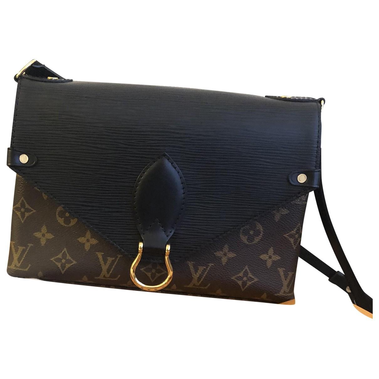 Louis Vuitton Saint Michel Handtasche in  Braun Leinen