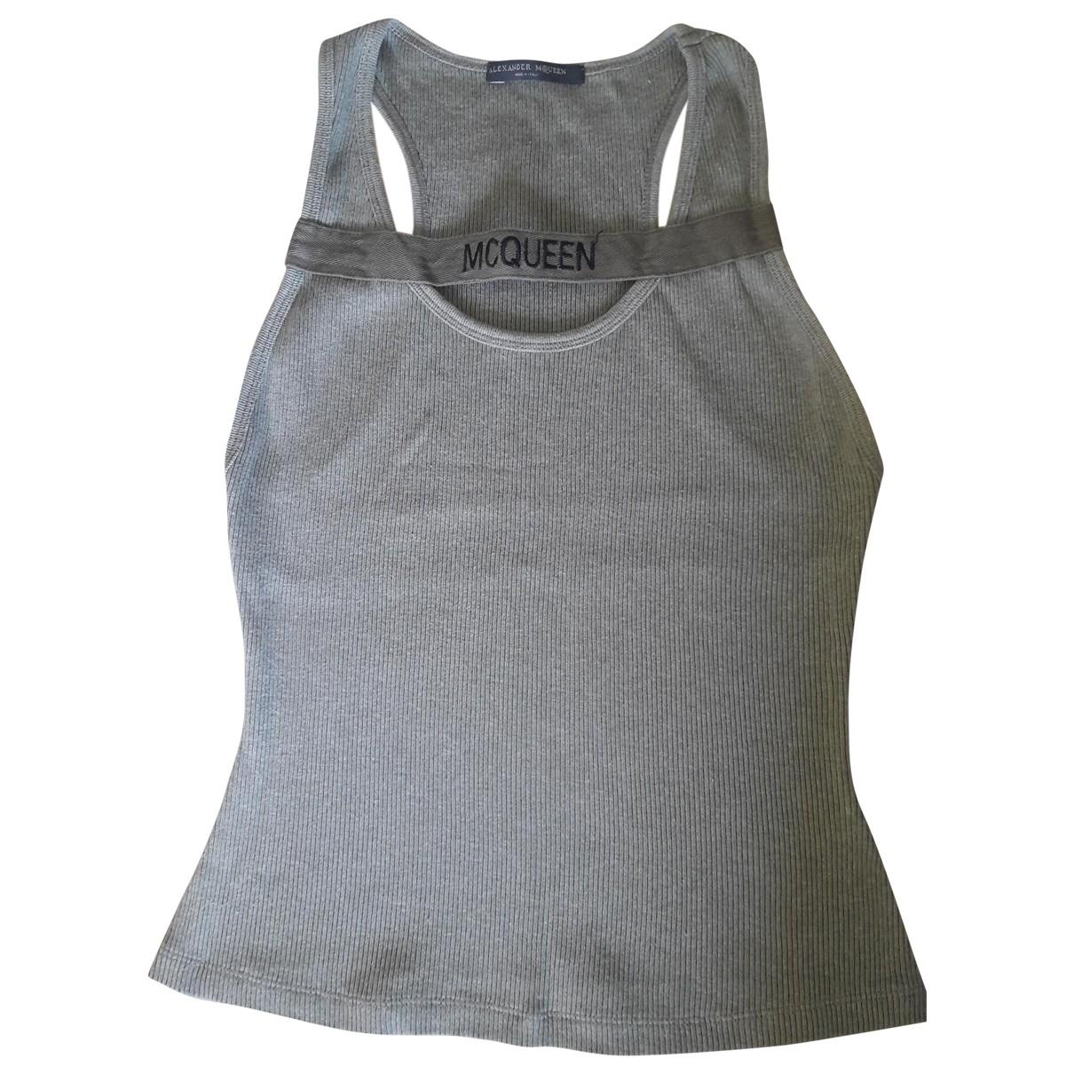 Alexander Mcqueen - Top   pour femme en coton - kaki