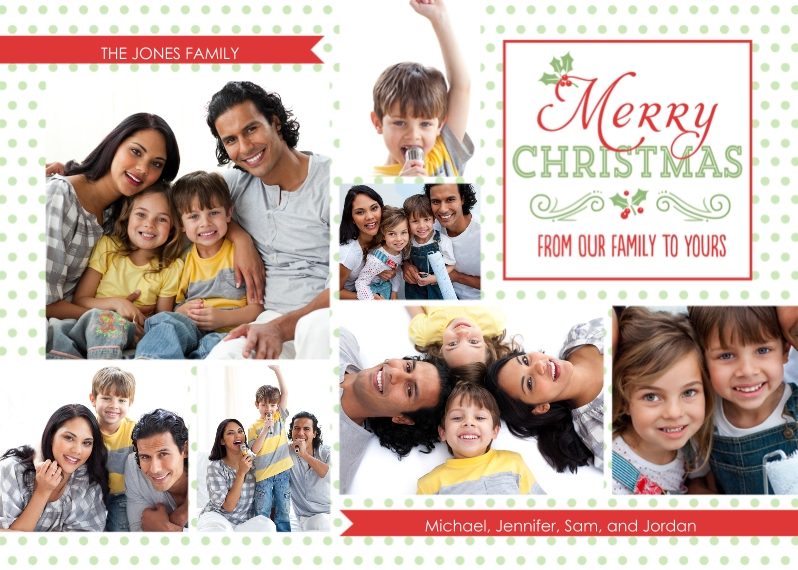 Christmas Photo Cards 5x7 Cards, Standard Cardstock 85lb, Card & Stationery -From Our Family to Yours