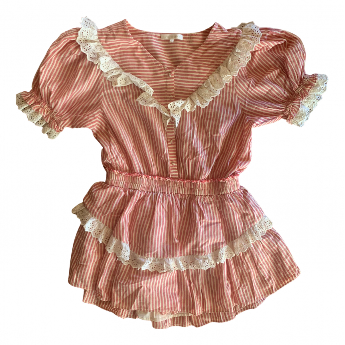 Love Shack Fancy \N Kleid in  Rot Baumwolle