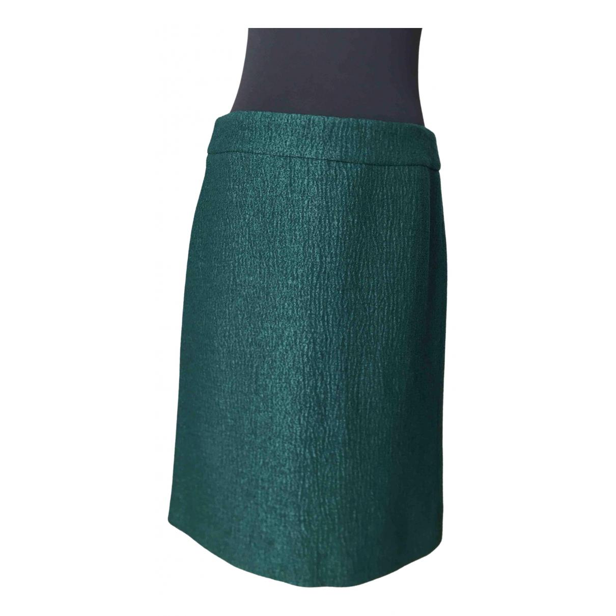 Dries Van Noten \N Green Wool skirt for Women 38 FR