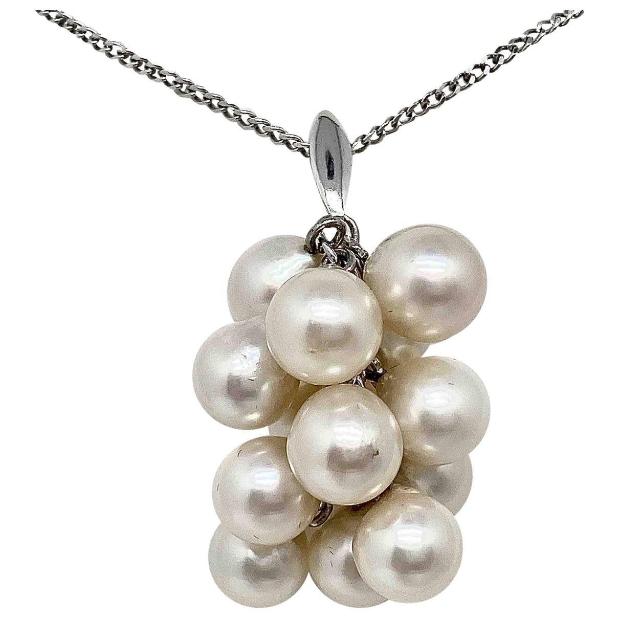 - Pendentif   pour femme en perle - blanc