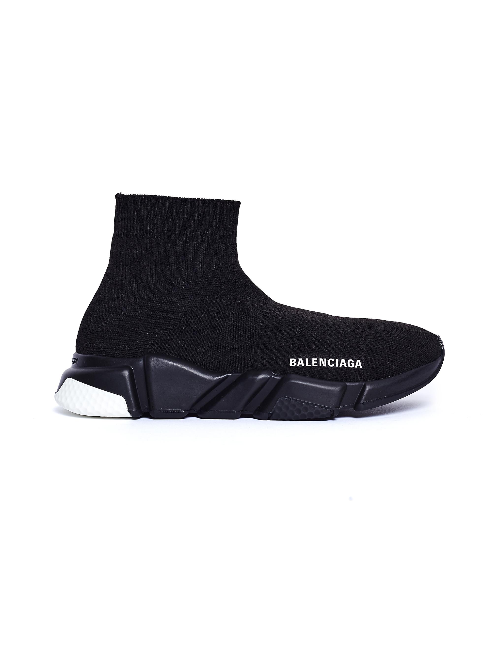 Balenciaga Black Speed Trainer Sneakers