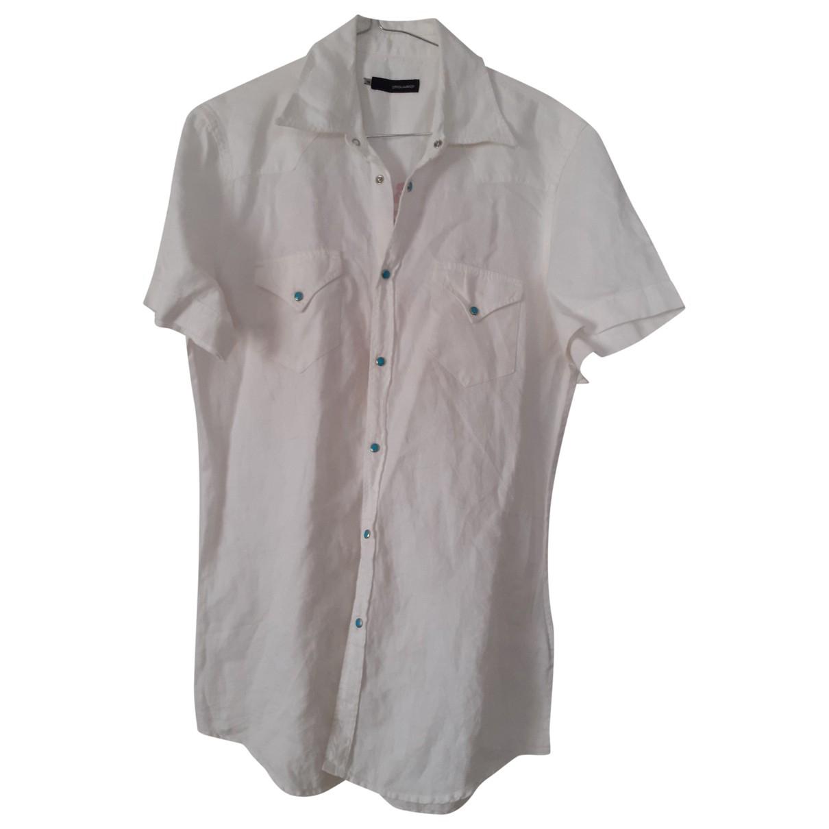 Dsquared2 - Chemises   pour homme en lin - blanc