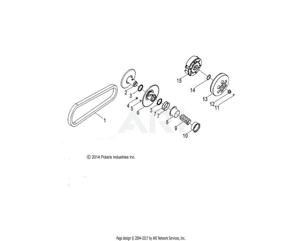 Polaris OEM 0455376 ASM-CLUTCH, DRIVEN, 170 | [INCL. 15-20]