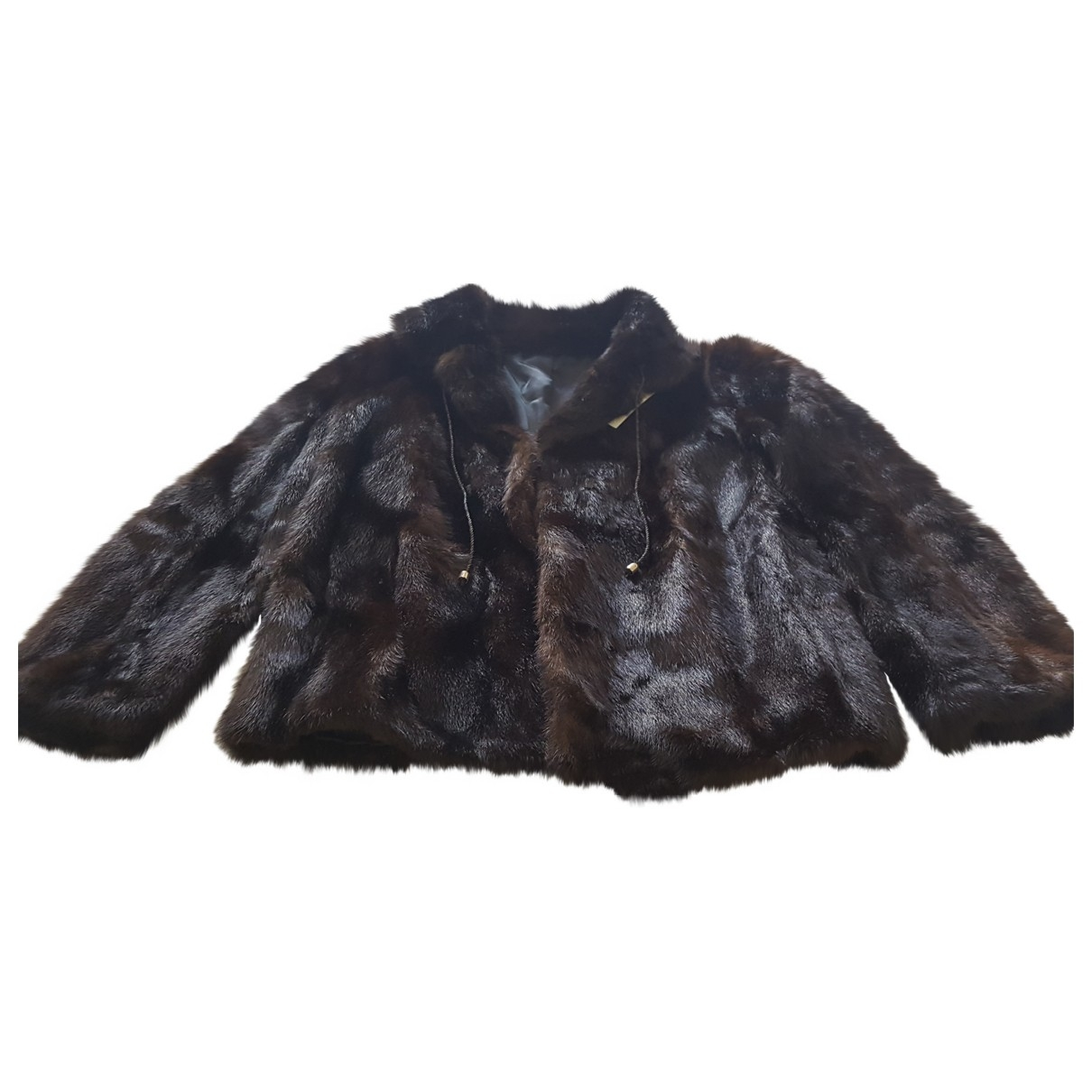 Non Signé / Unsigned \N Brown Mink coat for Women 40 IT