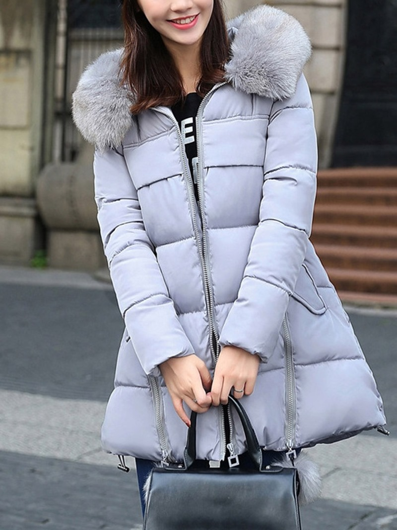 Ericdress Zipper Loose Thick Mid-Length Cotton Padded Jacket