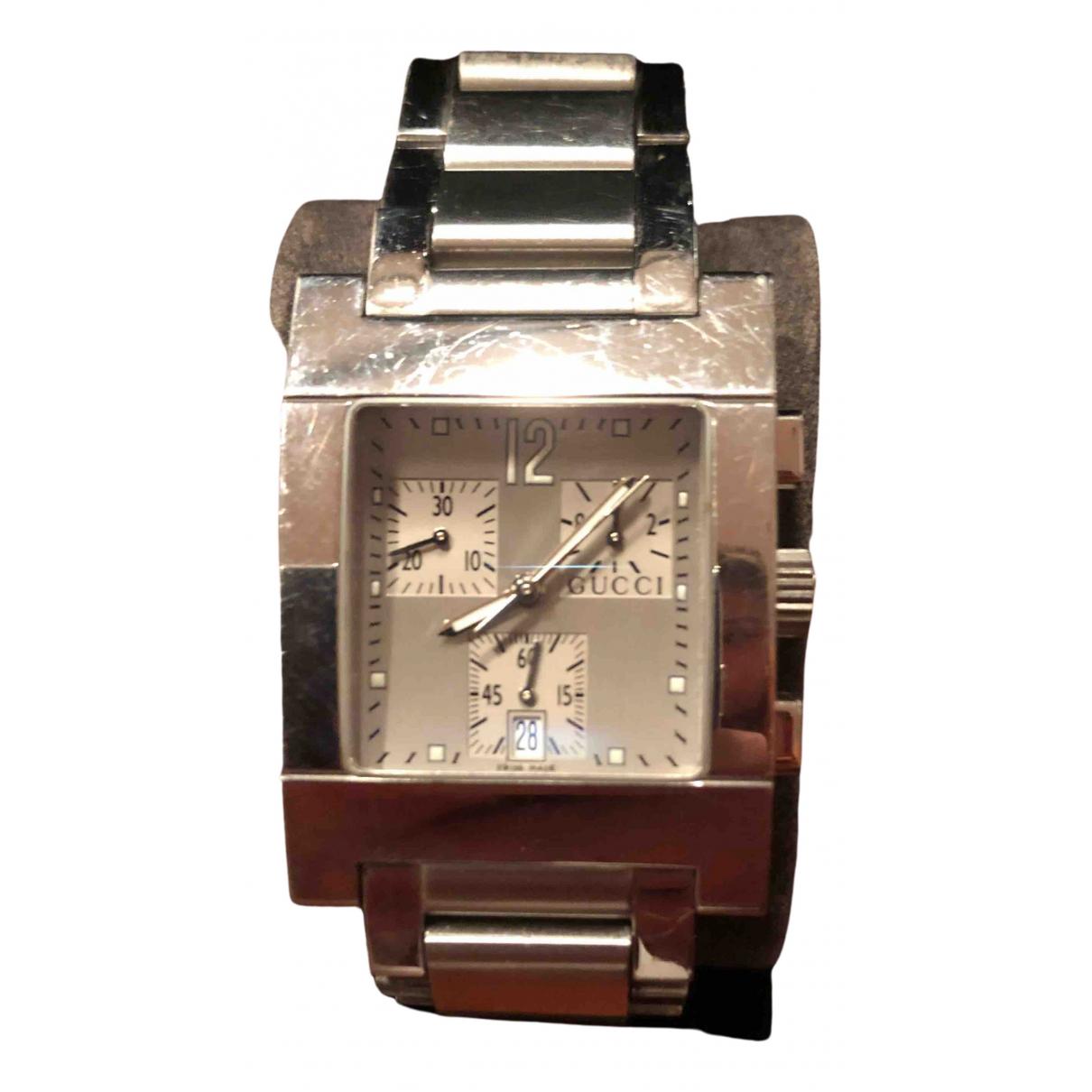 Gucci \N Uhr in  Metallic Stahl