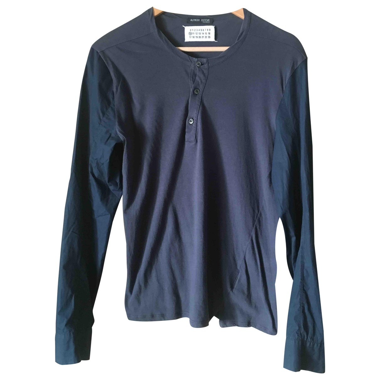 Maison Martin Margiela \N Navy Cotton Shirts for Men S International