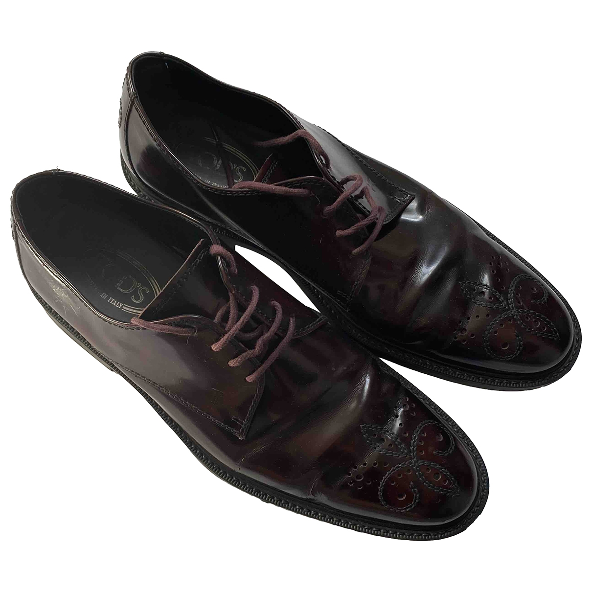Tod's \N Burgundy Leather Lace ups for Men 9.5 UK