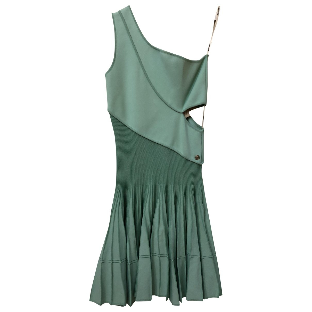 Roberto Cavalli \N Kleid in  Tuerkis Viskose