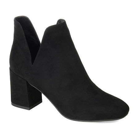 Journee Collection Womens Gwenn Block Heel Booties, 6 1/2 Medium, Black