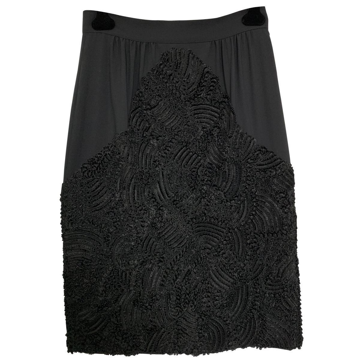 Falda midi de Cachemira Fendi