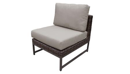 TKC049b-AS-BRN Barcelona Armless Chair - 1 Set of Beige