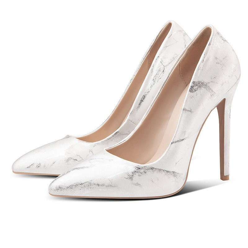 Ericdress Stiletto Heel Pointed Toe Slip-On Banquet Pumps