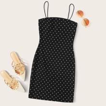Polka Dot Bodycon Slip Dress