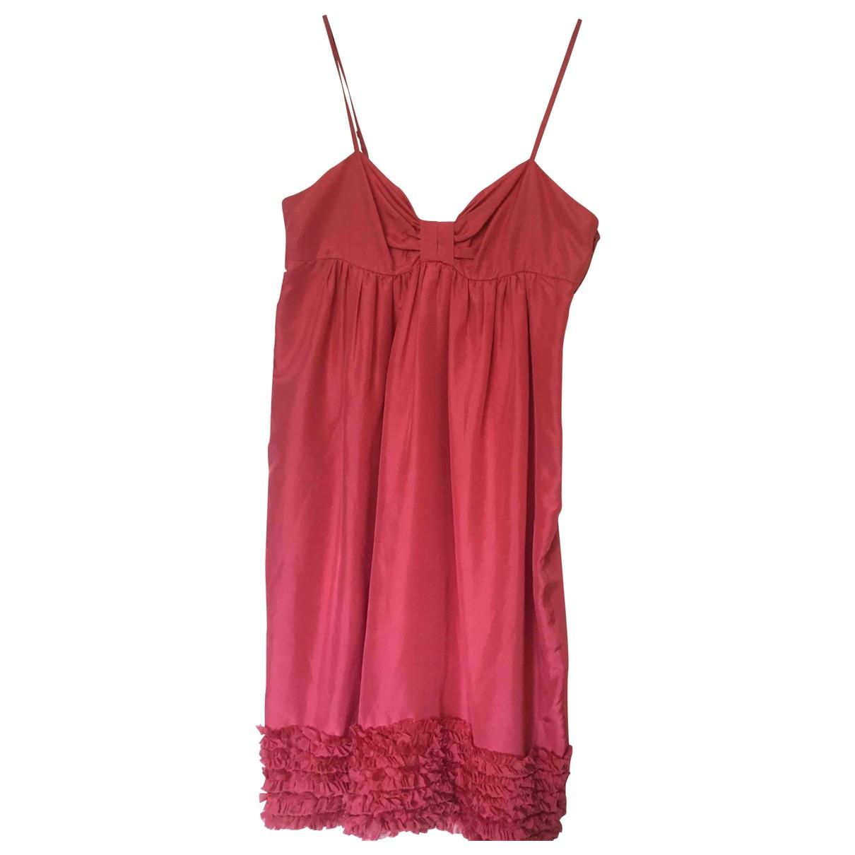 Tara Jarmon \N Orange Silk dress for Women 38 FR