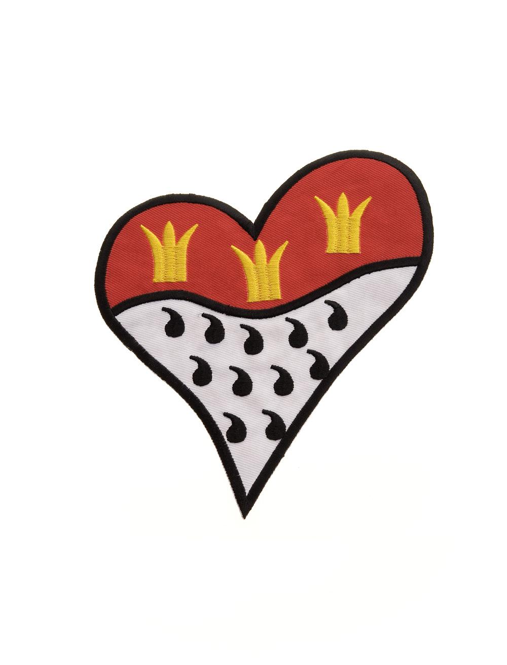 Kostuemzubehor Aufnaeher/Buegelbild Kolner Wappen Herz 10cm