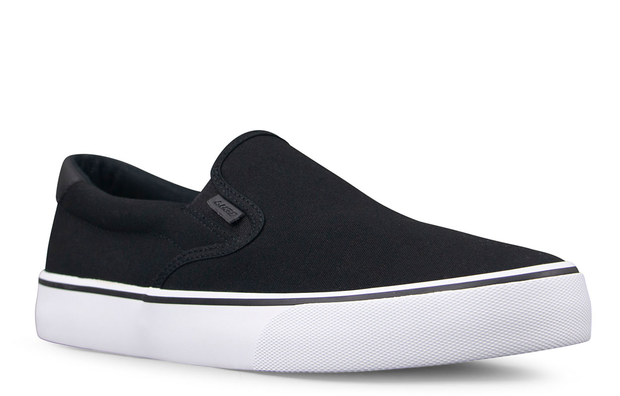 Men's Clipper Slip-On Sneaker (Choose Your Color: BLACK/WHITE/BLACK, Choose Your Size: 10.0)