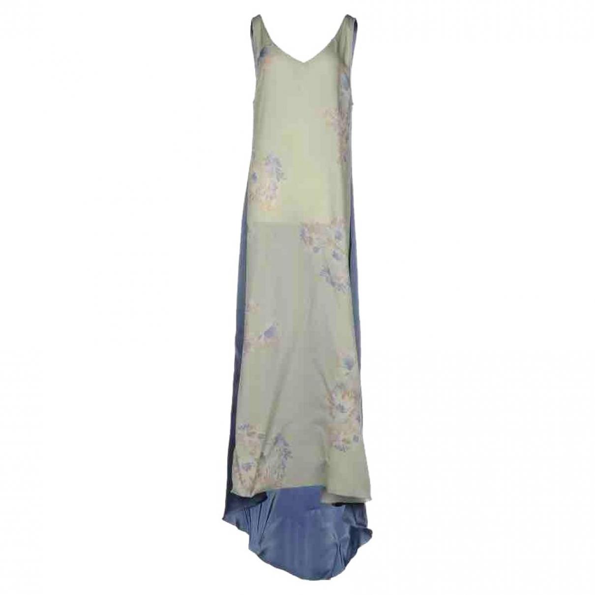 Dries Van Noten \N Kleid in  Blau Seide