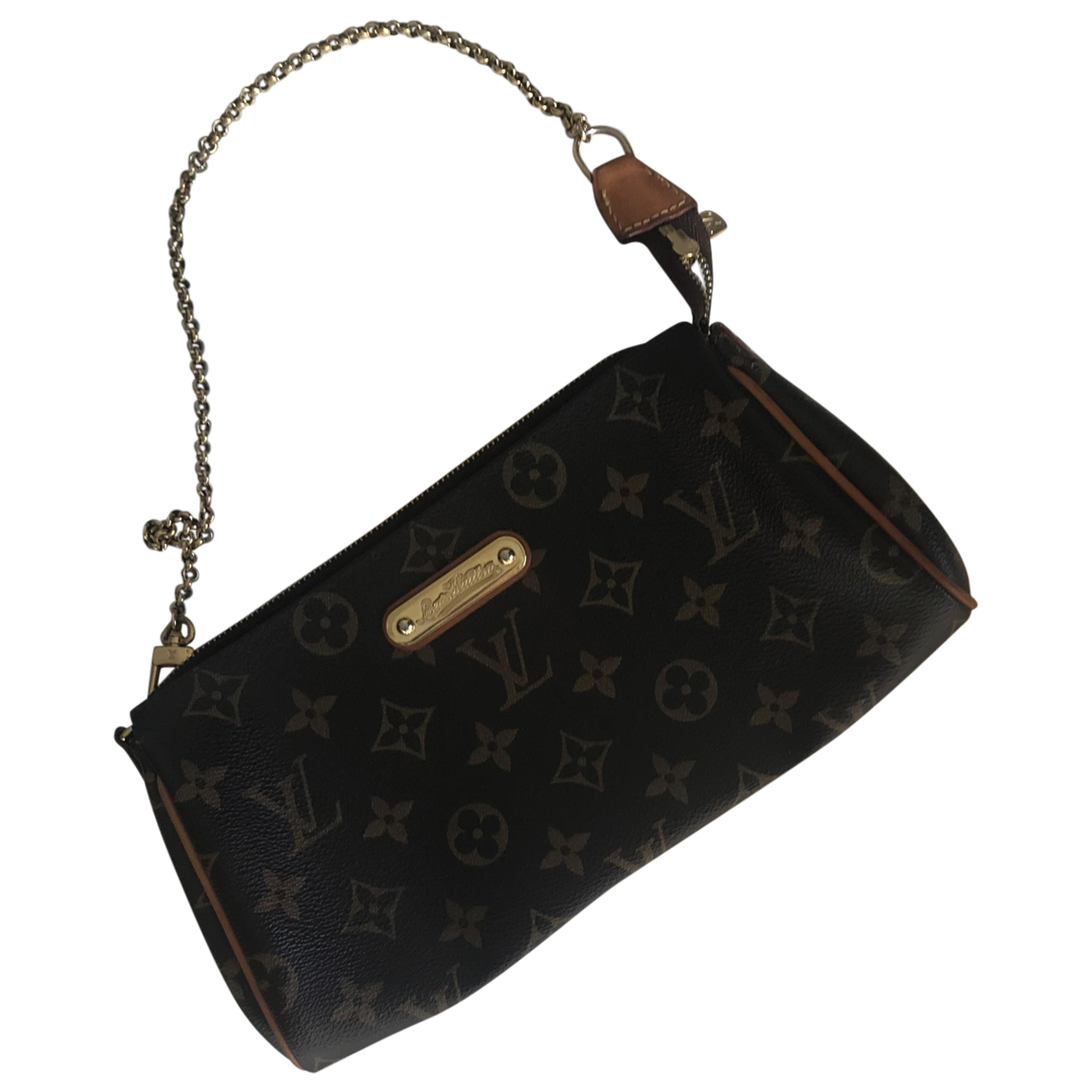 Louis Vuitton Eva Clutch in  Braun Leinen