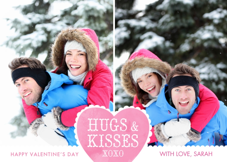 Valentine's Cards Mail-for-Me Premium 5x7 Flat Card, Card & Stationery -Hugs & Kisses