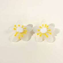 Flower Decor Stud Earrings