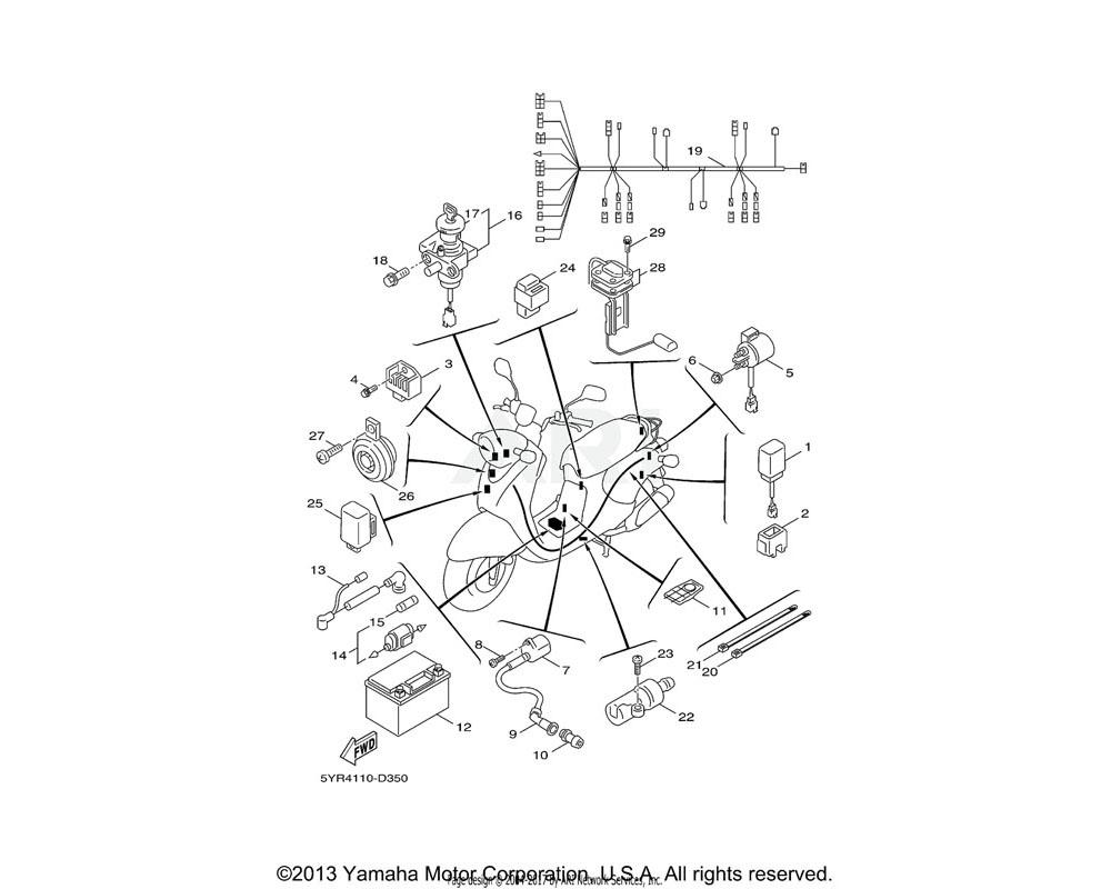 Yamaha OEM 5FA-H1960-00-00 RECTIFIER & REGULATOR ASSY