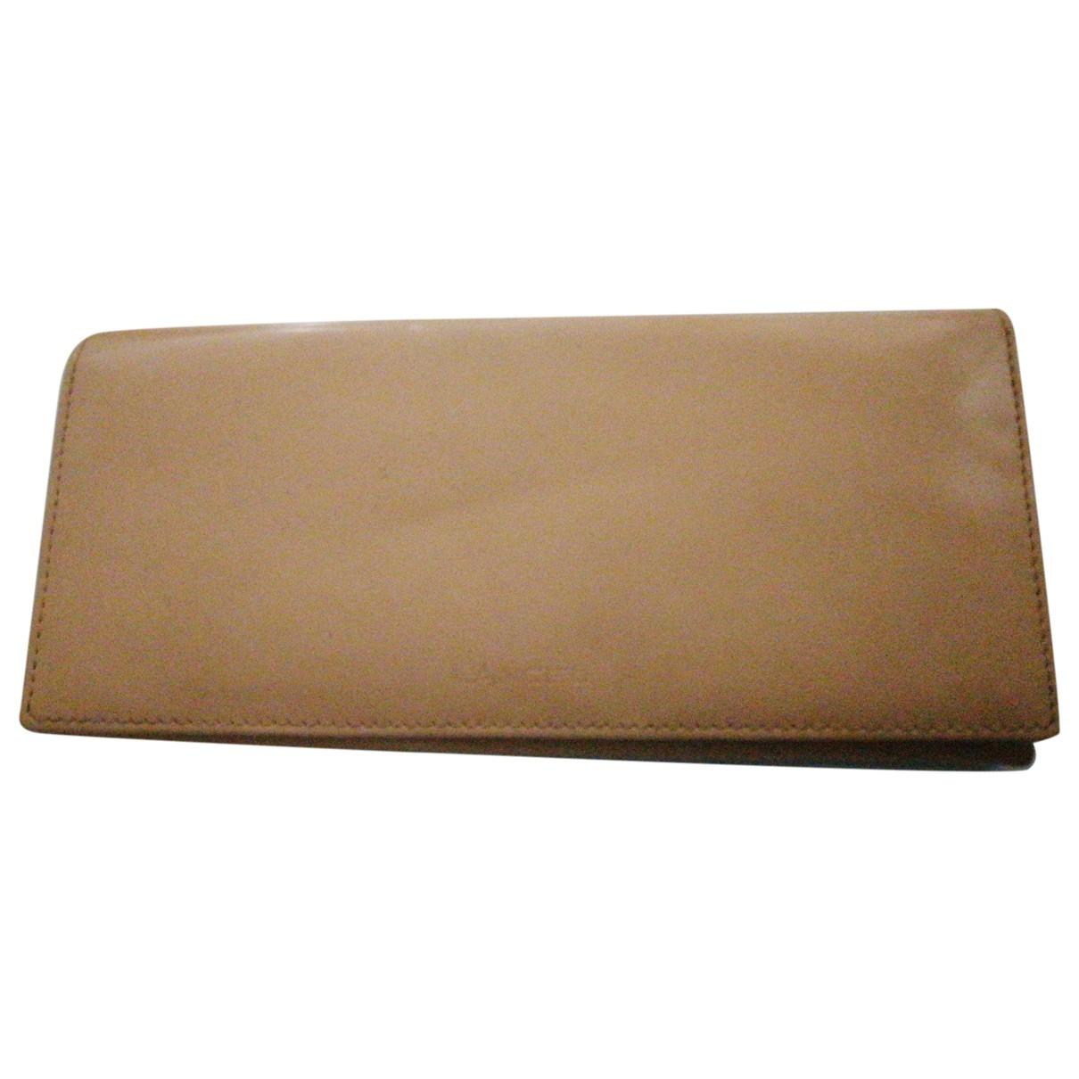 Lancel - Portefeuille   pour femme en cuir - beige