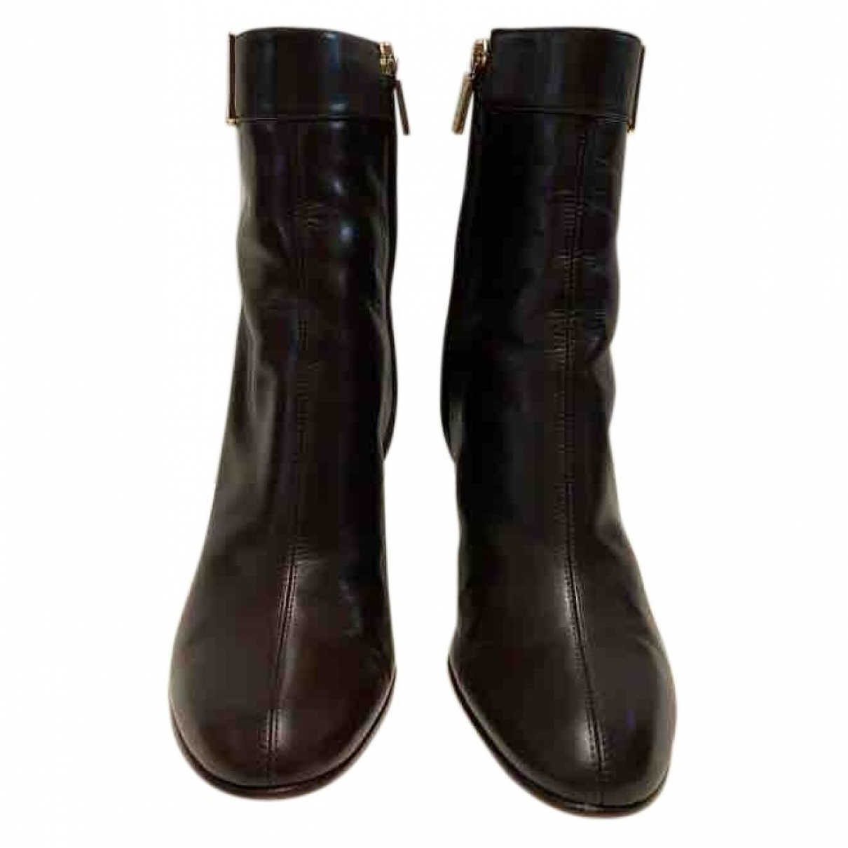 Loewe \N Brown Leather Ankle boots for Women 36 EU