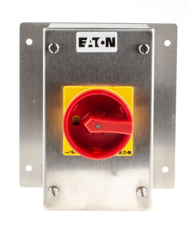 Eaton 3 Pole Enclosed Non Fused Isolator Switch - 25 A Maximum Current, 13 kW Power Rating, IP65