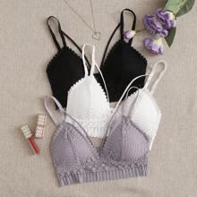 3pack Floral Lace Bra Set