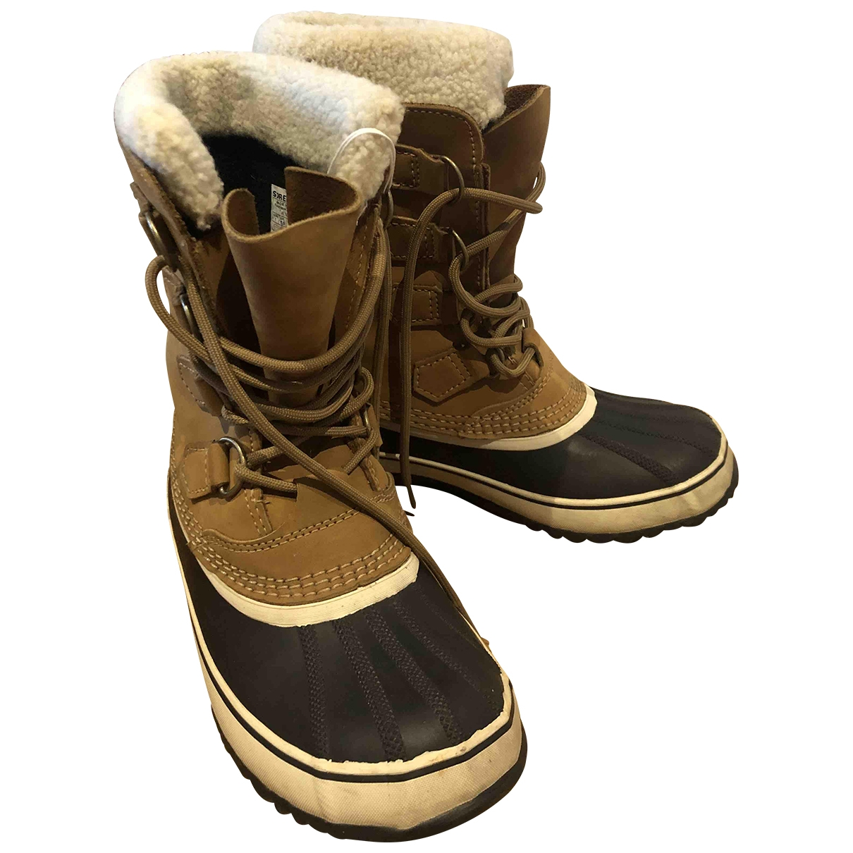 Sorel \N Camel Rubber Boots for Women 38.5 EU
