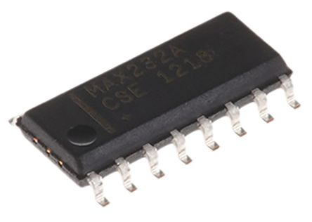 Maxim Integrated MAX232ACSE+T, Cable Transceiver, RS-232 2-TX 2-RX 2-TRX, 4.5 → 5.5 V, 16-Pin SOIC